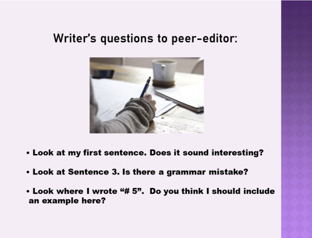Give writer control Peer Edit Cover shot