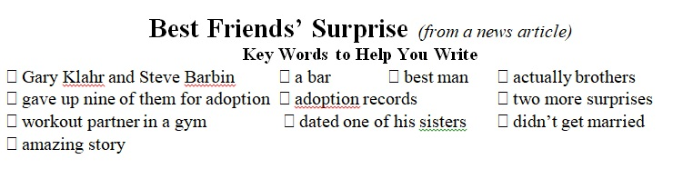 Best Friend Surprise key words