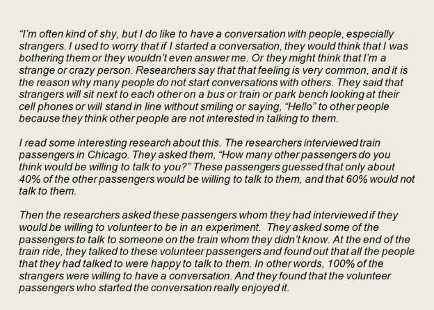 Teacher SCRIPT Intro Starting Conversation pt 1